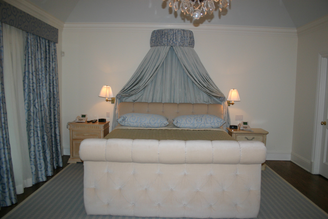Glamorous 40 blue canopy design inspiration design of for Canopy over bed